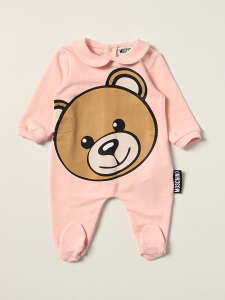 Moschino Baby footed jumpsuit with big teddy