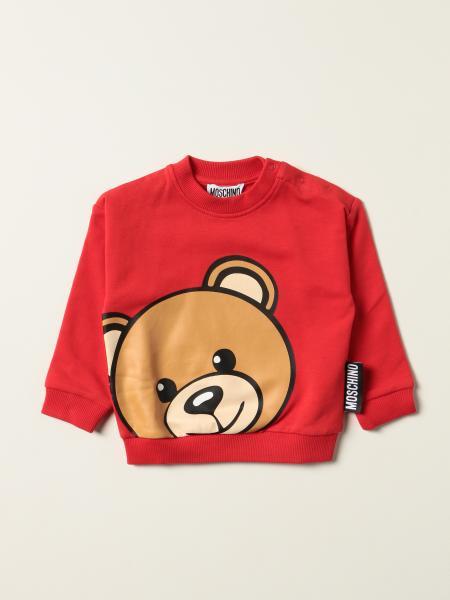 Felpa Moschino Baby in cotone con teddy
