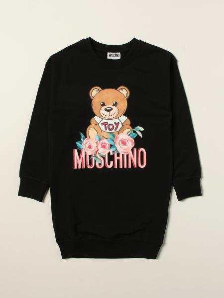 Abito Moschino Kid in cotone con teddy