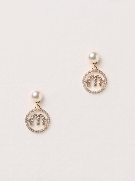 Orecchini pendenti Miu Miu con perle