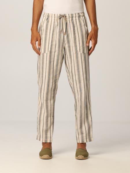Baronio uomo: Pantalone coulisse lino fantasia
