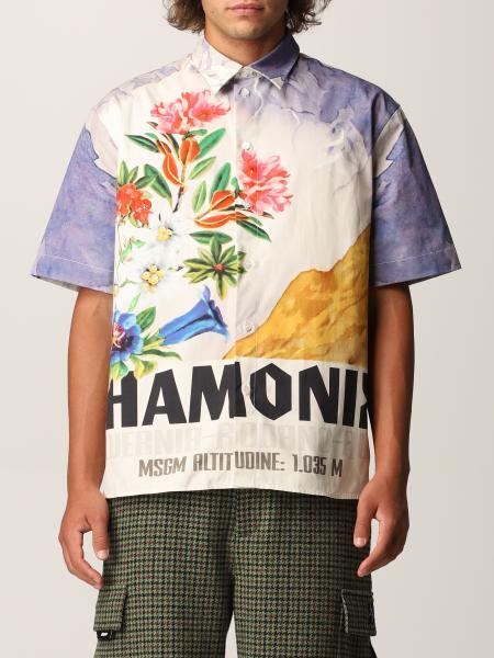 Msgm uomo: Camicia Msgm stampata