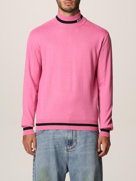 Msgm uomo: Dolcevita Msgm in misto lana con logo in jacquard