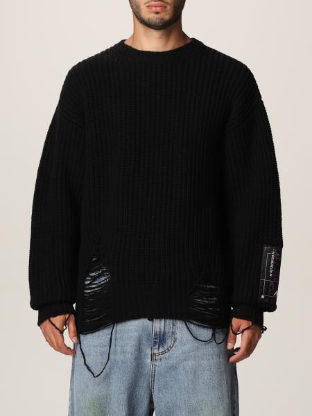 Msgm uomo: Pullover Msgm in lana vergine con rotture