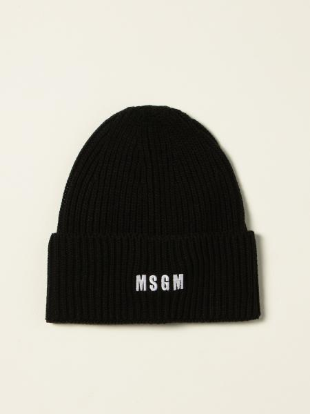 Msgm men: Msgm bobble hat with logo