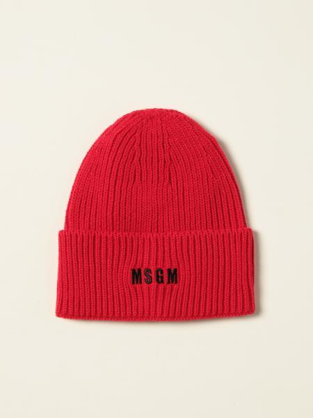 Msgm beanie hat with logo