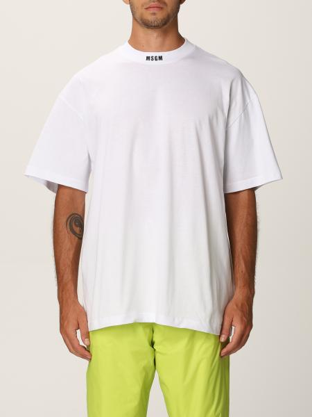 Msgm uomo: T-shirt Msgm con logo