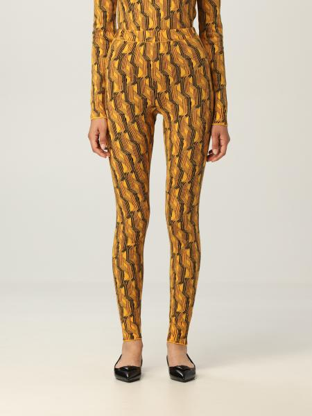 Prada donna: Leggings Prada in misto lana vergine a fantasia
