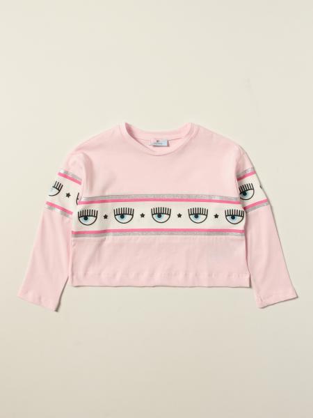 Chiara Ferragni Collection: T-shirt Maxi Logomania Chiara Ferragni in jersey stretch