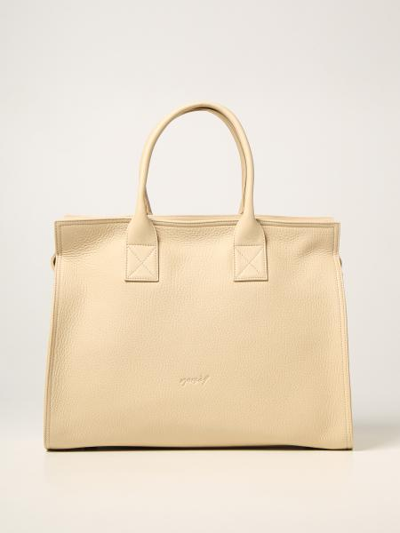 Marsèll women: Marsèll Curva bag in hammered leather and suede