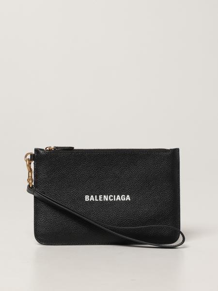 Balenciaga women: Clutch bag xs Balenciaga in grained leather
