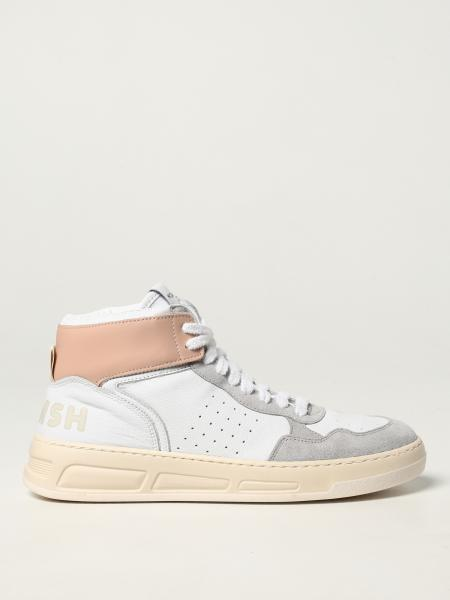 Womsh: Super Rose Blush Womsh trainers in calfskin and recycled cotton
