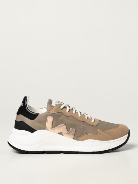 Womsh: Vegan Wave Golden trainers in Appleskin and recycled nylon