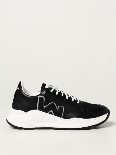 Womsh: Vegan Wave Off Black trainers in Appleskin and recycled nylon