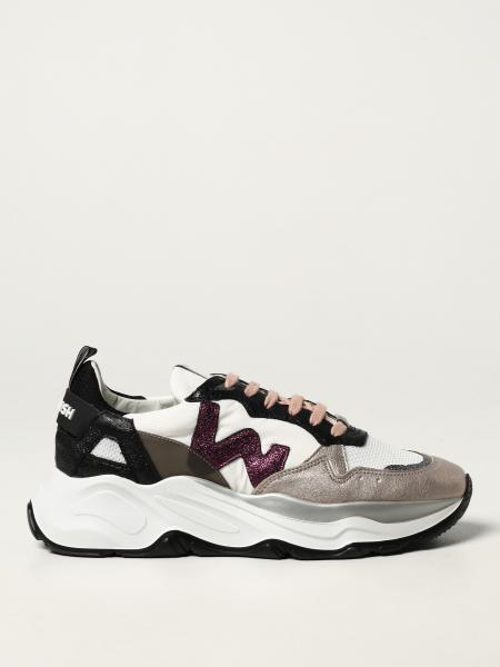 Womsh: Futura Rose Rose Womsh trainers in leather, cotton and recycled nylon