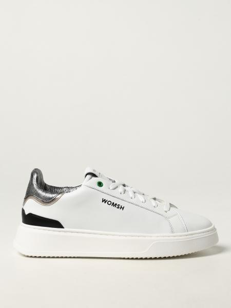 Womsh: Rock Iron White Silver Black trainers in leather and recycled cotton