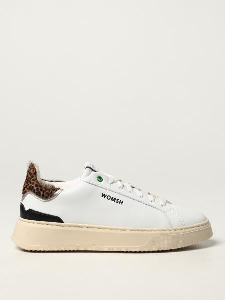 Womsh: Snow Leo trainers in leather and recycled cotton