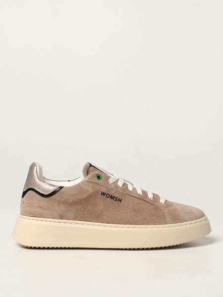 Womsh: Trainers Snik Ivory Water Womsh in suede