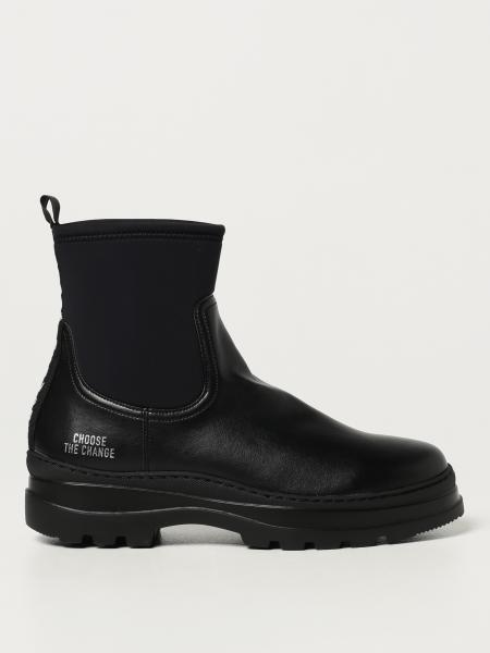 Womsh: Vegan Loop Womsh ankle boot in vegan leather with elastic