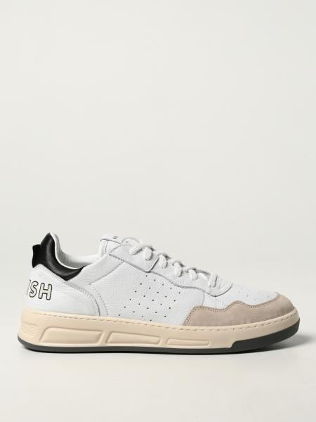 Womsh: Hyper White Ink trainers in leather and recycled cotton