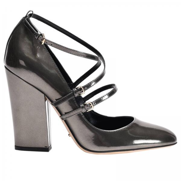 Sergio Rossi Damen High Heels Pumps Grau Schuhe Made In