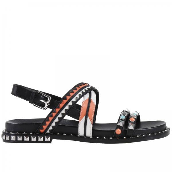 Ash Chaussures Femme Plates Noir Sandales XTqEpx