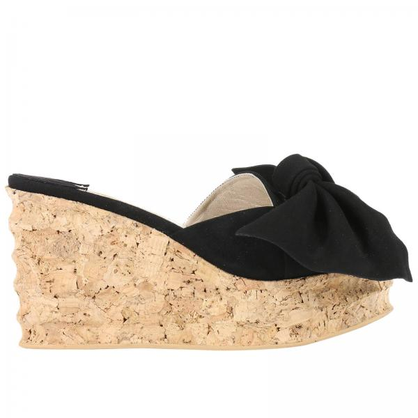 separation shoes 85991 d0508 Mule open-toe isabelle in suede e sugero con maxi fiocco annodato