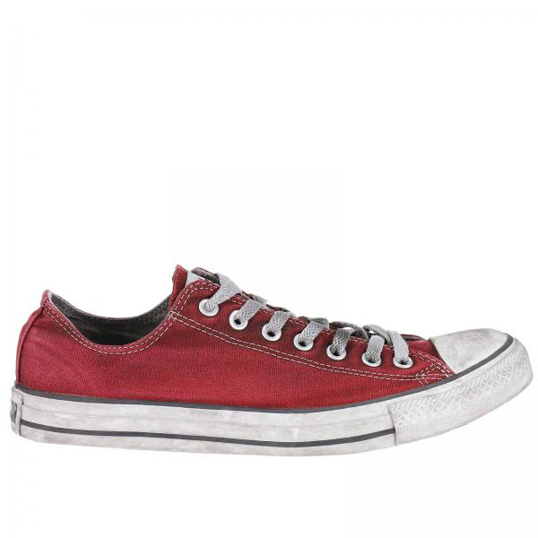 Sneakers Uomo Converse Limited Edition Rosso | Sneaker All Star Limited  Edition In Canvas Con Effetto Sporco | Sneakers Converse Limited Edition  156891c ...