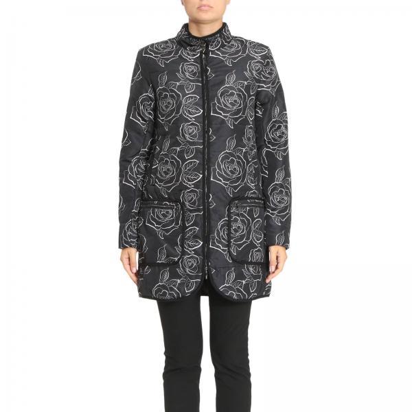 mantel f r damen armani jeans schwarz mantel giorgio armani 6y5k06 5napz giglio de. Black Bedroom Furniture Sets. Home Design Ideas