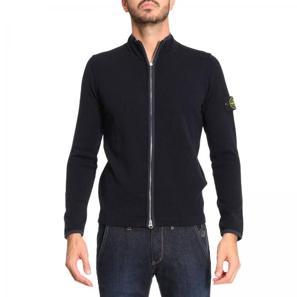 strickjacke f r herren stone island blau strickjacke. Black Bedroom Furniture Sets. Home Design Ideas