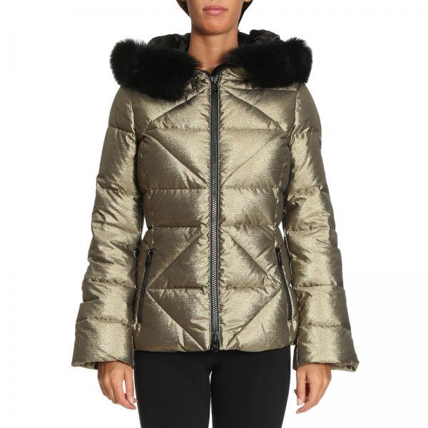 the best attitude b7a75 bc136 Piumino new gala luxur con maxi cappuccio e bordi di pelliccia removibili