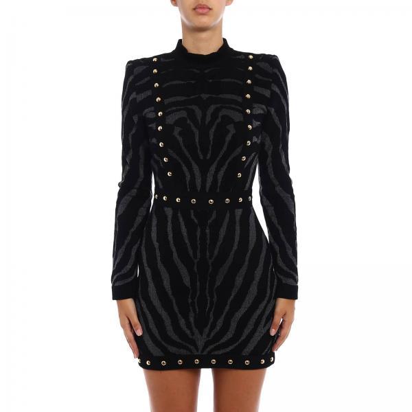 Balmain Womens Black Dress Dress Women Balmain Balmain Dress