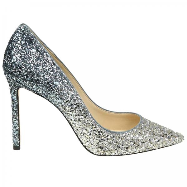 Jimmy Choo Women s Silver Pumps  84a2c837b