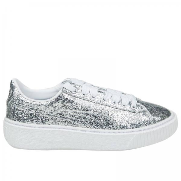 Puma Women s Silver Sneakers  d5ff140a6d50