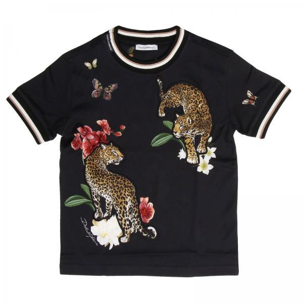 T-shirt bambino Dolce   Gabbana Nero  b261f2d3b06