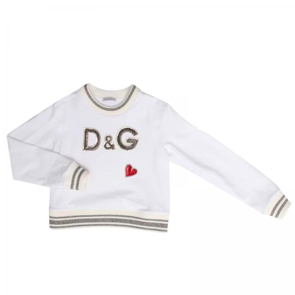 Dolce Gabbana Little Girls White Sweater Sweater Kids Dolce