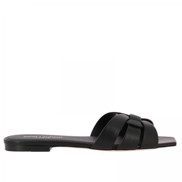 Flat sandals Women Saint Laurent Black  100c9298d