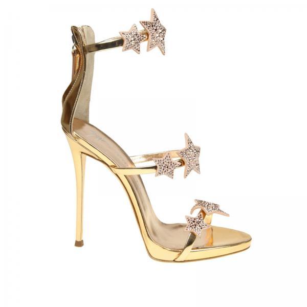 Heeled Sandals Women Giuseppe Zanotti Design Gold 1f20d6a912