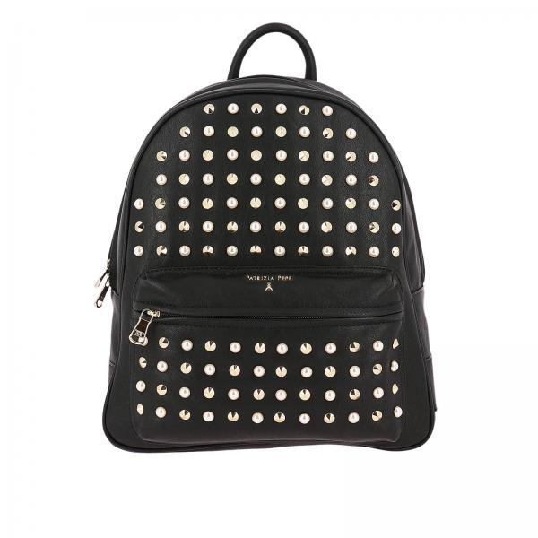 wholesale dealer ad48b 37d22 Zaino full zip con maxi borchie metalliche e perle
