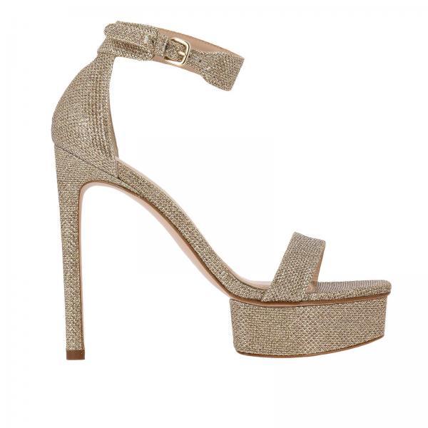 negozio online 33a05 205d1 Sandalo backupplat alto in tessuto lurex con plateau