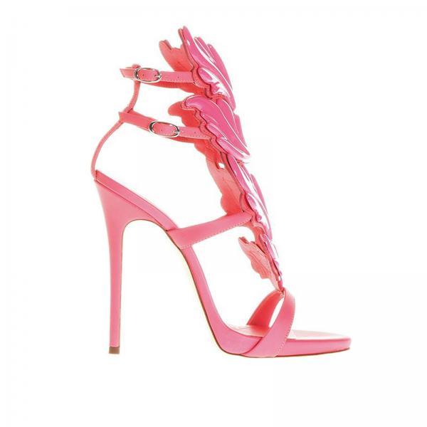 Giuseppe Zanotti Design Women s Pink Heeled Sandals  1b7594c160