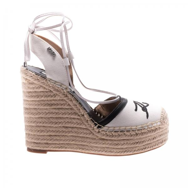 Keilabsatz Schuhe Fur Damen Karl Lagerfeld Weiss Keilabsatz Schuhe