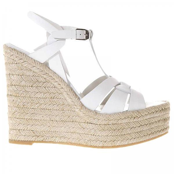2fecc5ba4d8e2 Saint Laurent Women s White Wedge Shoes