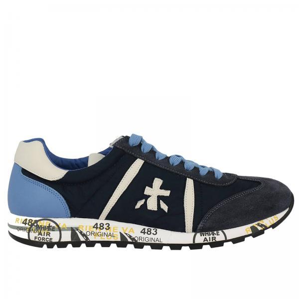 Sneakers In E Pelle Lucy Uomo Scamosciata Premiata Blue wqCw7xZ1