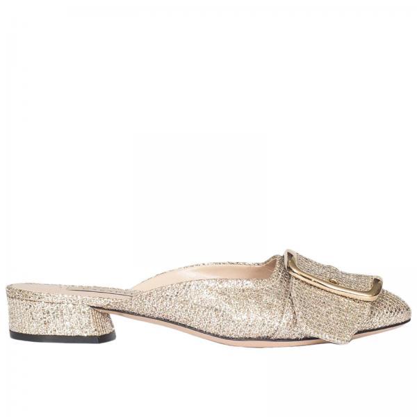 Golden glitter sandals Casadei QYRQmAOZv