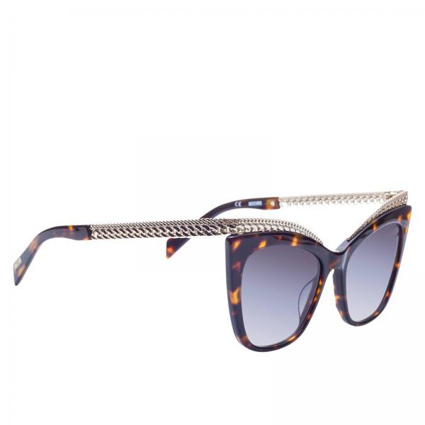Women's Brown Sunglasses Women Glasses Moschino qUdxn5CnA