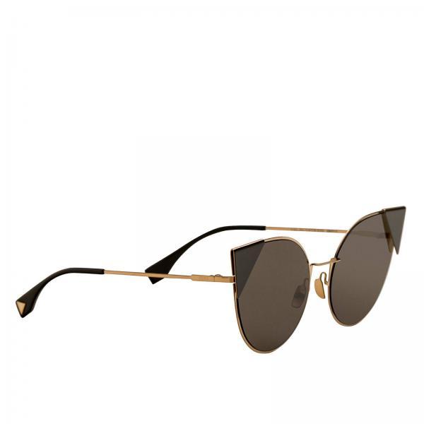 Occhiali occhiali da sole ff0190 in metallo con lenti piatte Fendi - Giglio.com
