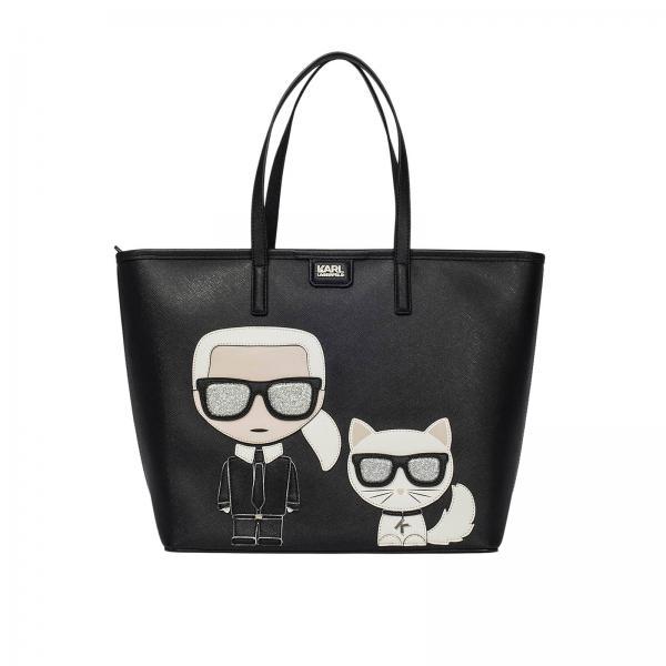 Handtasche für Damen Karl Lagerfeld Schwarz | Handtasche ...