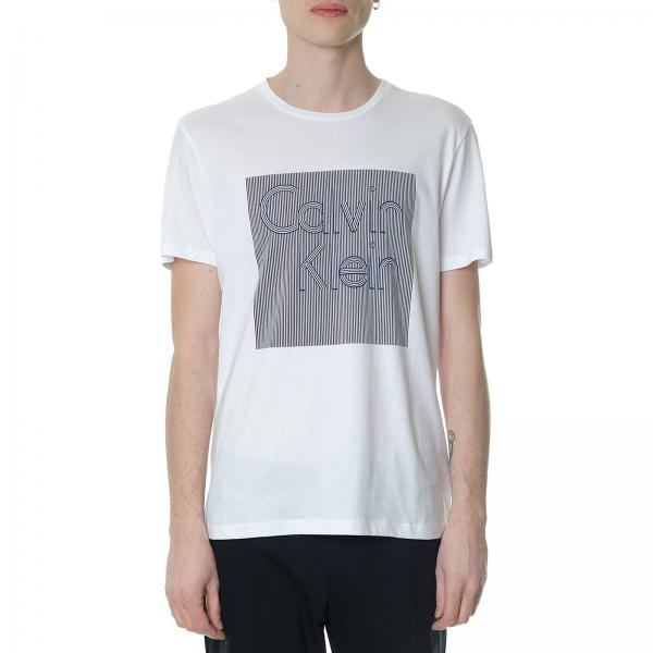 Calvin Klein Men s White T-shirt  02932bd35f1d