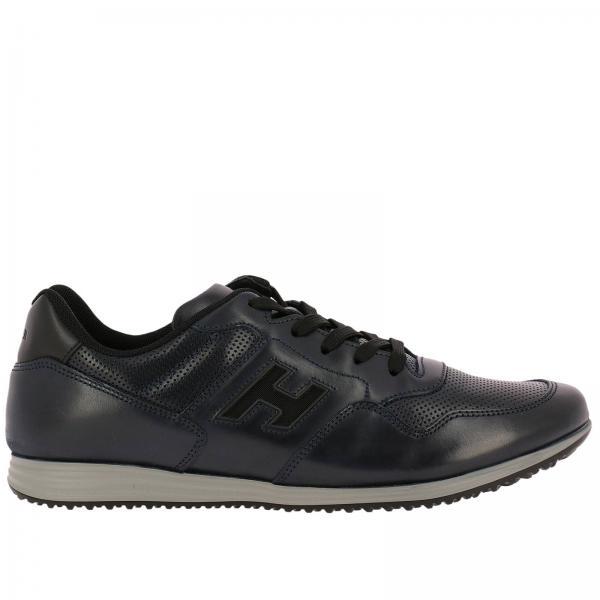 Sneakers 205 Olympia in pelle micro traforata con H intagliata